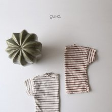 French stripe T<br>sky/beige/brown<br>『guno.』<br>17SS