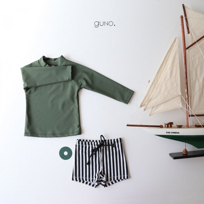 Columbia swim suitGreen boy set『guno.』17SS