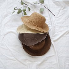 ラフィアハット/Raffia hat<br>Natural/Brown/Beige/Gray<br>『nijiiro select』<br>17SS