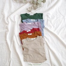 Linen no sleeve t<br>6color<br>『monbebe』<br>17SS