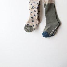 dot + simple knee socks set<br>2Color set</br>『guno.』<br>17FW
