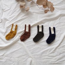 Rib Socks<br>Set of 4<br>autumn<br>『yoi』<br>17FW