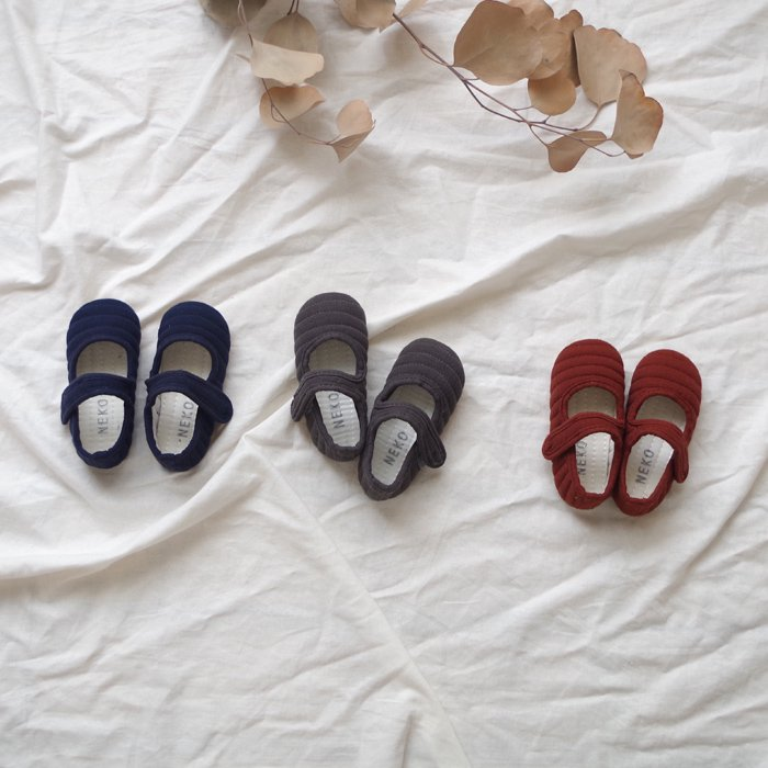 Quilted shoes3 Color『NEKO』17FW