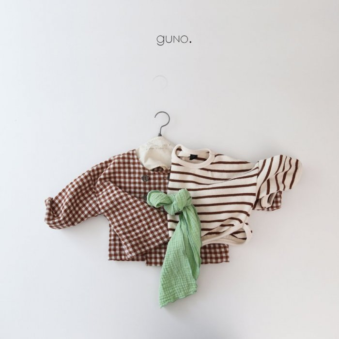 spring stripe MTMbrown『guno.』18SS定価2,600円 20%Off