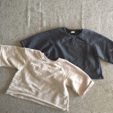 Phi Phi Slip T-Shirt <br>Beige/Charcoal<br>『O'ahu』<br>18SS