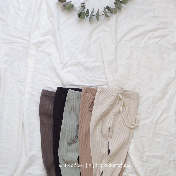 Spring Rib leggings5Color『marvi』18SS