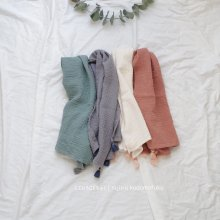 Tassel cotton scarf<br>4 Color『salon de Jue』<br>18SS