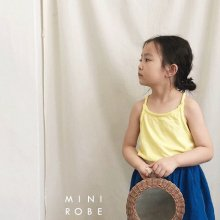 No Sleeve T<br>yellow<br>『MINI ROBE』<br>18SS<br>定価<s>1,500円</s><b>20%Off</b>