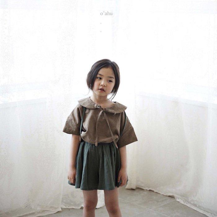 momo suspenders shorts ptdeep green『...