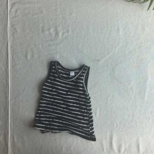 Linen stripe sleeveless<br>black<br>『O'ahu』<br>18SS