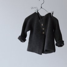 france cardigan<br>Charcoal gray<br>『guno・』<br>18FW<br>定価<s>3,700円</s>&nbsp;<b>10%Off</b>