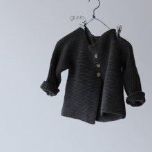 france cardigan<br>Charcoal gray<br>『guno・』<br>18FW<br>定価<s>3,700円</s><b>10%Off</b>