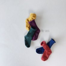 Vegetable shop set<br>5 color 1 set<br>『MY SOCKS』<br>18FW