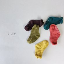 Fruit shop set<br>5 color 1 set<br>『MY SOCKS』<br>18FW
