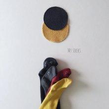 bebe ketchup tights suspenders<br>4 color<br>『MY SOCKS』<br>18FW
