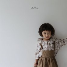check blouse<br>brown<br>『guno・』<br>18FW<br>定価<s>2,700円</s><b>10%Off</b>