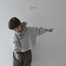 Winter stripe T<br>brown<br>『guno・』<br>18FW<br>定価<s>2,900円</s> <b>10%Off</b><br>M Only