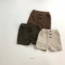 Half pants<br>3 Color<br>Jr_size<br>『marvi』<br>18FW