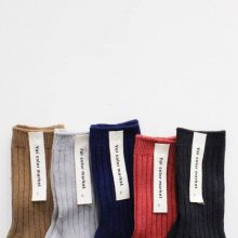 rib socks<br>Fall pink set<br>5 Color Set<br>『yoi』<br>18FW