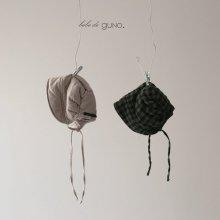 18 maki padding bonnet<br>2 color<br>『bebe de guno.』<br>18FW <br>定価<s>2,200円</s><b>10%Off</b>