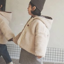 Ragom check hood coat<br>Cream<br>『O'ahu』<br>18FW