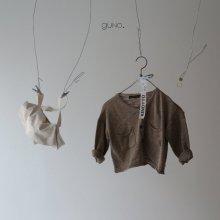 siro linen cardigan<br>mocha<br>『guno・』<br>19SS <br>______Restock