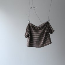 moe stripe T<br>brown<br>『guno・』<br>19SS
