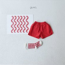 3 type short pt <br>red<br>『guno・』<br>19SS <br>定価<s>2,900円</s>