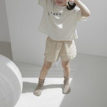 petit check short pt<br>yellow<br>『 l'eau 』<br>19SS <br>定価<s>2,900円</s>
