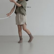 bois rappa short pt <br>light beige<br>『 l'eau 』<br>19SS