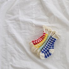check socks set<br>4 color 1 set<br>『 Doremi 』<br>19SS <br>______Restock