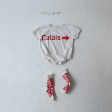 Calais babysuit <br>ivory<br>『bebe de guno.』<br>19SS<img class='new_mark_img2' src='https://img.shop-pro.jp/img/new/icons13.gif' style='border:none;display:inline;margin:0px;padding:0px;width:auto;' />