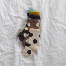 Dot socks set<br>5 color 1 set<br>『 Doremi 』<br>【Restock】