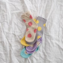 Dot socks set<br>5 color 1 set<br>『 Doremi 』<br>______Restock