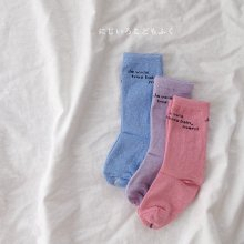 French lettering socks<br>3color 1set<br>『Team』 <br>19SS