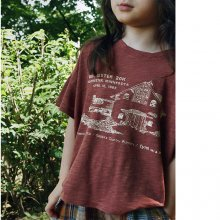 Minnesota half sleeves T<br>Rose brown<br>『SCON』<br>19SS