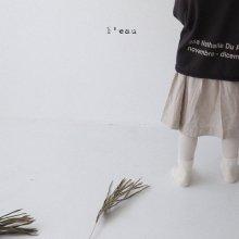 gus skirt<br>muji beige<br>『 l'eau 』<br>19FW