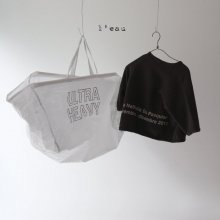 25 back lettering T<br>charcoal<br>『 l'eau 』<br>19FW<br>定価<s>2,600円</s><br>XS/S/M/XL