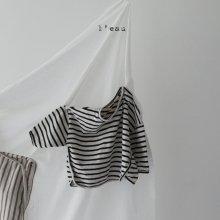 leau stripe T <br>black<br>『 l'eau 』<br>19FW
