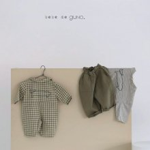 cat check suit<br>green<br>『bebe de guno・』<br>19FW<br>定価<s>4,080円</s><br> 18M