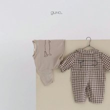 cat check suit<br>brown<br>『bebe de guno・』<br>19FW