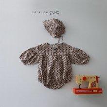 bebe maki button suit <br>flora<br>『bebe de guno・』<br>19FW <br>定価<s>3,900円</s><br>