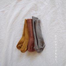 bebe rib high socks<br>3color 1set<br>『bloombebe』 <br>19FW