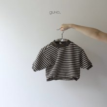 stripe T<br>brown<br>『guno・』<br>19FW