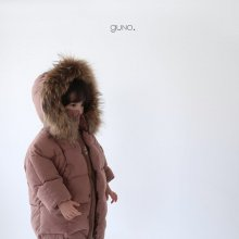 guno racoon padding<br>pink brown<br>『guno・』<br>19FW <br>定価<s>9,800円</s>