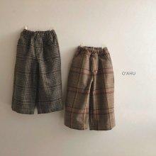 London Check Pants<br>2 color<br>『O'ahu』<br>19FW <br>【ご予約販売】