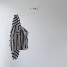 stripe T<br>navy<br>『 l'eau 』<br>19FW<br>定価<s>2,800円</s><br>M