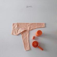 juicy leggings <br>orange check<br>『guno・』<br>20SS