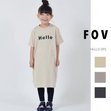 Hello OPS<br>3 color<br>『FOV』<br>20SS <br>定価<s>2,200円</s>