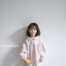 Chuing blouse<br>beige、pink<br>『opening N』<br>20SS